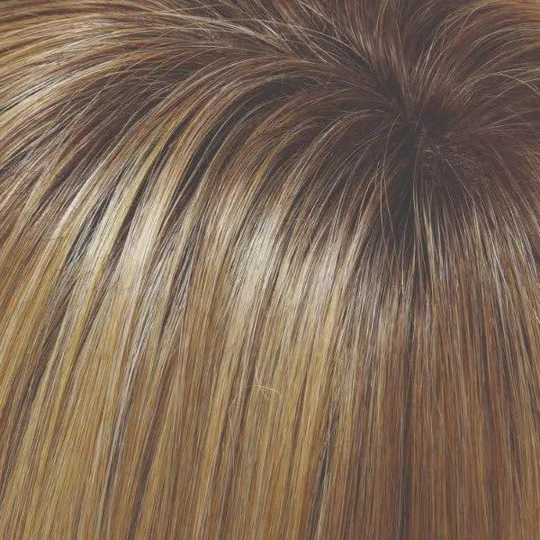 24B/27CS10 24B/27CS10 Shaded Butterscotch | Light Gold Blonde & Med Red-Gold Blonde Blend, Shaded with light Brown