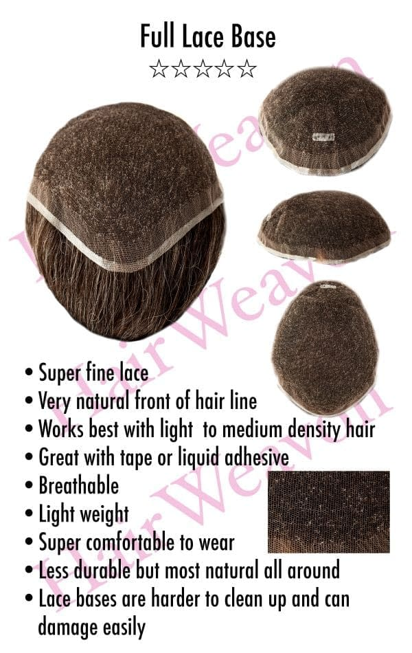 Full Lace Hair System base