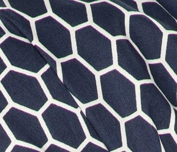 Misu Headwear in Honeycomb Blue