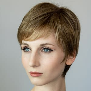 Ginger Mono and Ginger Wig by Ellen Wille in DARK SAND