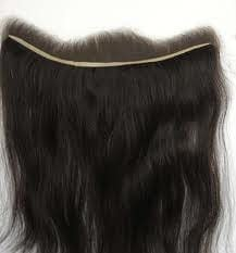 Lace Frontal Hair Piece | Straight Human Hair | Natural Black 1B