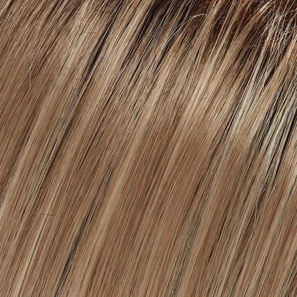 22F16S8 | Venice Blonde | Light Ash Blonde & Light Natural Blonde Blend, Shaded with Dark Brown Jon Renau Easihair topper