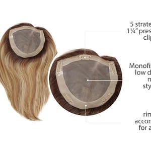 Gilded Hair Topper 12 Inches   Human Hair