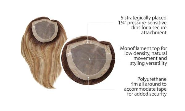 Gilded Hair Topper 12 inches | Human Hair