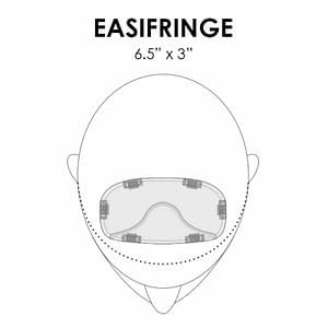 EasiFringe | HD Heat Friendly Synthetic Clip In Bangs (Mono Base) | 22MB Poppy Seed