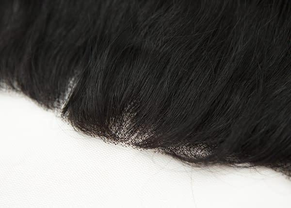 Lace frontal piece closeup