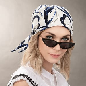 Misu Headwear by Ellen Wille in White Blue