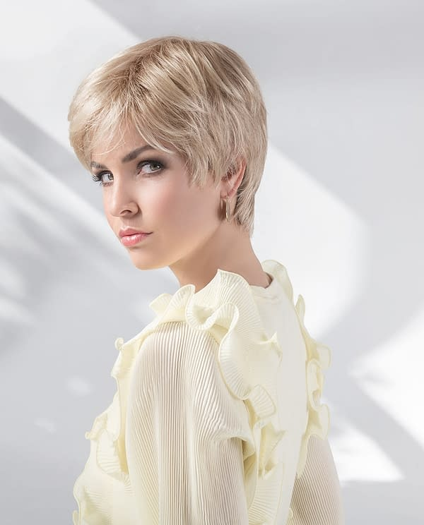 Select Wig by Ellen Wille | Short Synthetic Lace Front Wig with Long Front Fringe