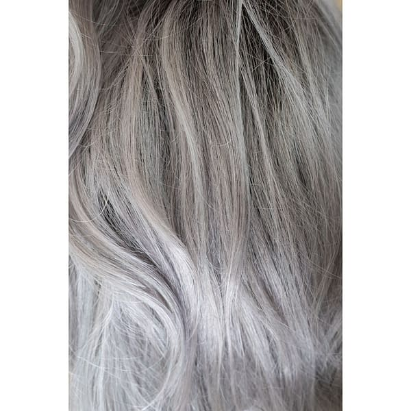 Smokey Gray Rooted Colour by Rene of Paris