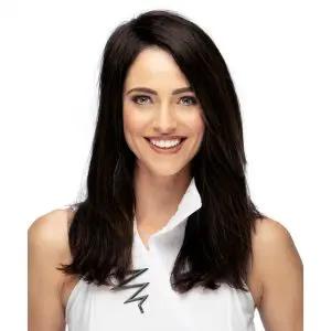 Mono Wiglet 12   Human Hair Hair Topper   15 Colours