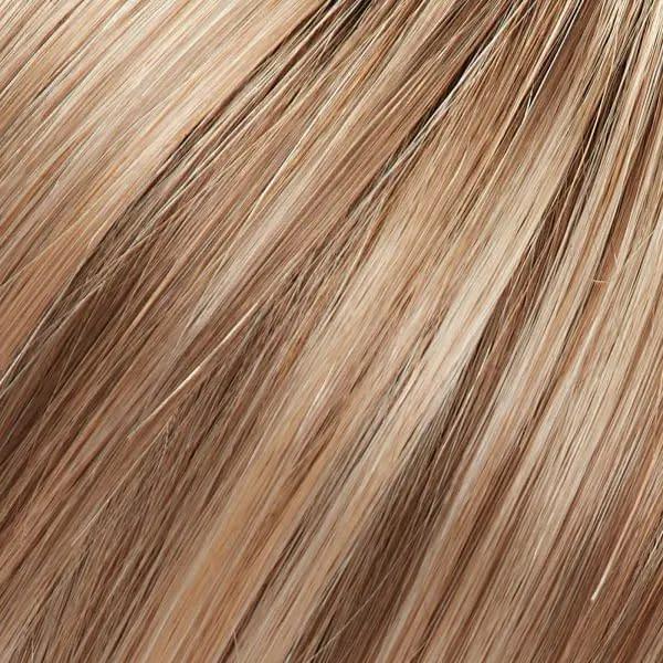 12FS12 | Malibu Blonde | Light Gold Brown, Light Natural Gold Blonde & Pale Natural Gold-Blonde Blend, Shaded with Light Gold Brown Jon renau easihair topper