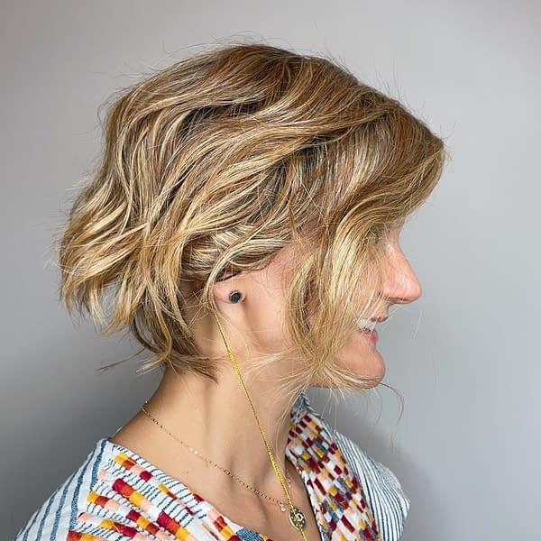 City Roast Wig by Belle Tress | Heat Friendly Synthetic | Wavy Short Style
