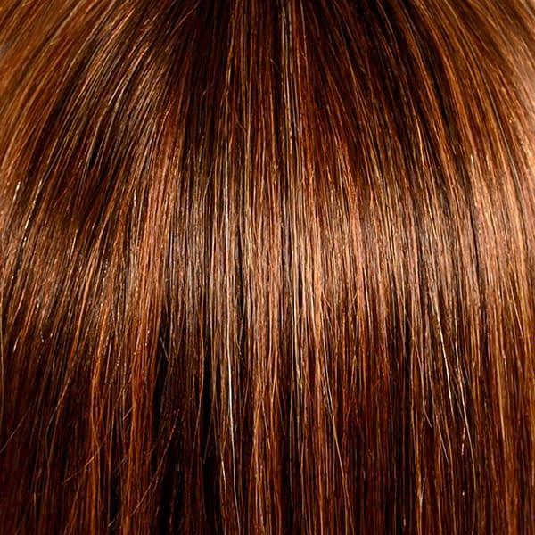 30/8/27R-8 Terracotta Gold Human Hair Wig Colour by Belle Madame