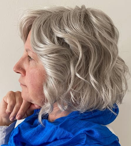 Customer Review Photo | Sweet Talk Luxury Wig in GL56-60 | Sugared Silver