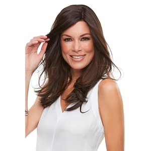 Top Smart 18″ Straight Hair Topper | Synthetic Lace Front (Mono Base) | 31 Colours