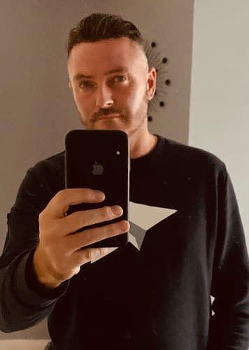 Keith wearing Custom hair system