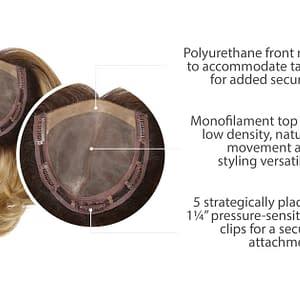 On The Go Hair Topper | Heat Friendly Hair Piece