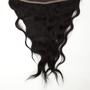 Lace Frontal Hair Piece | Wavy Human Hair | Natural Black 1B