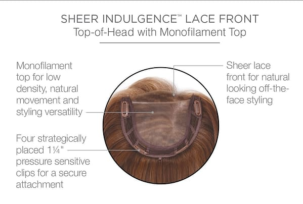 Top Billing 12 inches Sheer Indulgence Lace Front Hair Topper