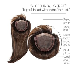 Top Billing 18 Inches Sheer Indulgence Monofilament Top Hair Topper
