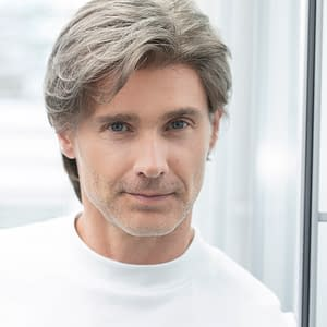 Gary Wig For Men | Synthetic Lace Front (Mono Top) | 10 Colours