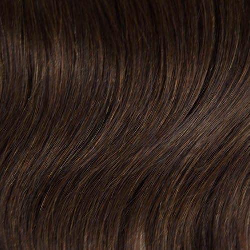 U tip hair extensions brown
