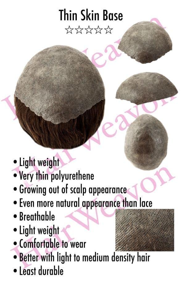 Thin Skin Hair System Base