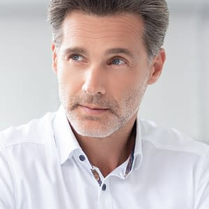 Jay Hair System For Men | Heat Friendly Synthetic