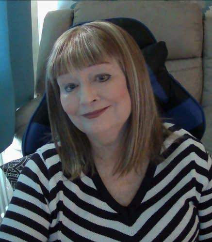 Customer Review Photo | Mary wearing Tatum Wig in Strawberry Swirl